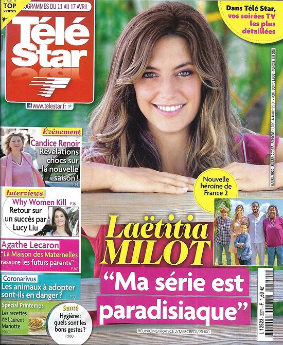 TELE STAR n°2271 11/04/2020  Laëtitia Milot/ Cécile Bois/ Lucy Liu/ Agathe Lecaron/ Nastassja Kinski