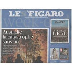 LE FIGARO n°23452 10/01/2020  Incendies en Australie/ Kenzo Takada/ Rentrée Littéraire/ Soleimani/ Darmanin/ Informatique quantique