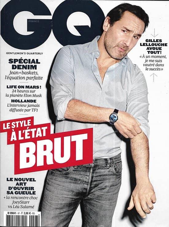 GQ n°97  avril 2016  Gilles Lellouche/ Spécial denim/ Joeystarr/ Naomi Campbell/ TF1/ Elon Musk/ Andrés Velencoso