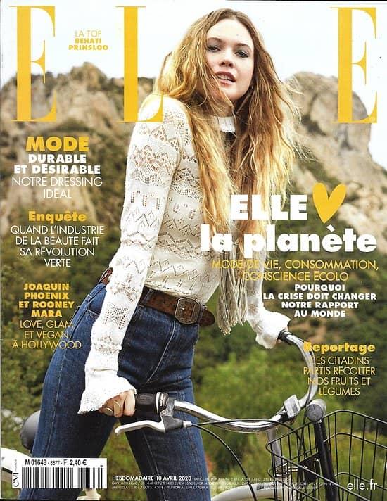 ELLE n°3877 10/04/2020  Spécial green: la crise doit changer notre rapport à la planète/ Joaquin Phoenix & Rooney Mara/ Behati Prinsloo