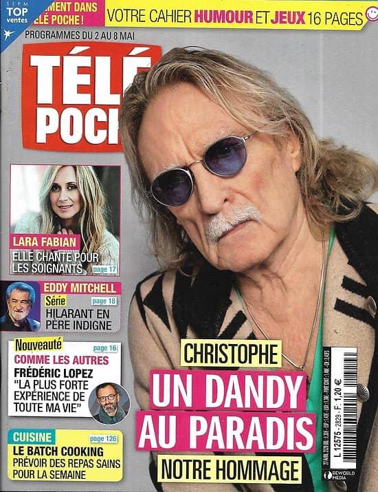 TELE POCHE n°2829 02/05/2020  Christophe, un dandy au paradis/ Lara Fabian/ Eddy Mitchell/ Frédéric Lopez