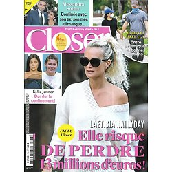 CLOSER n°776 24/04/2020  Laeticia Hallyday/ Meghan & Harry/ Alessandra Sublet/ Christophe/ Hugh Jackman/ Cameron Diaz