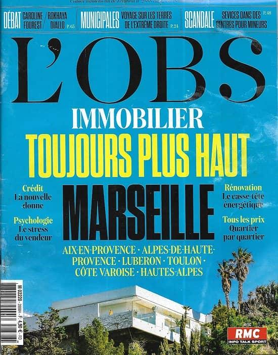 L'OBS n°2888 12/03/2020  Rassemblement National/ Politique du coronavirus/ Fourest & Diallo/ Thomas Piketty