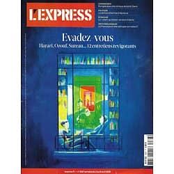 L'EXPRESS n°3587 02/04/2020  Evadez-vous: les prescriptions de confinés/ Quelle reprise?/ Dépistages/ La démocratie à l'épreuve