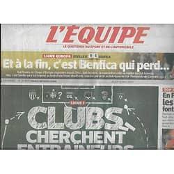 L'EQUIPE n°21851 15/05/2014  Clubs cherchent entraîneurs/ Benfica/ Jérémy Chardy/ L'Afsud/ C.Gourcuff/ Baverel