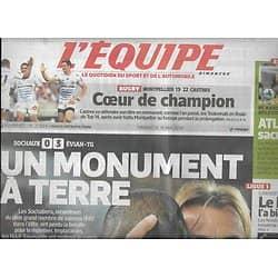 L'EQUIPE n°21854 18/05/2014  Sochaux, un monument à terre/ Rai/ Lille/ Atletico/ Nadal vs Djokovic/ Lavillenie