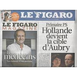 LE FIGARO n°20878 17/09/2011  Hollande cible d'Aubry/ Rébellion syrienne/ Berlin/ Crise de la dette/ Palmarès des monuments