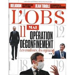 L'OBS n°2894 23/04/2020  Opération déconfinement: les enjeux & les coulisses/ Surveillance numérique/ Fary/ La Poste