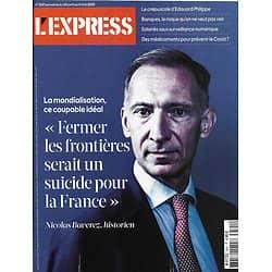 L'EXPRESS n°3591 30/04/2020  La mondialisation, coupable idéal/ l'avenir est dans le pré/ les banques face à l'insolvabilité