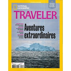 NATIONAL GEOGRAPHIC TRAVELER n°18 avril-juin 2020  Aventures extraordinaires: Antarctique, Tasmanie, Afrique, Amazonie