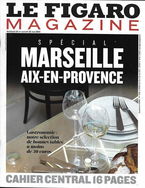 LE FIGARO MAGAZINE n°21401 24/05/2013  Gastronomie Aix-Marseille/ La France rebelle/ Montagne en été/ PJ-Quai des Orfèvres/ Jean Moulin (copy)