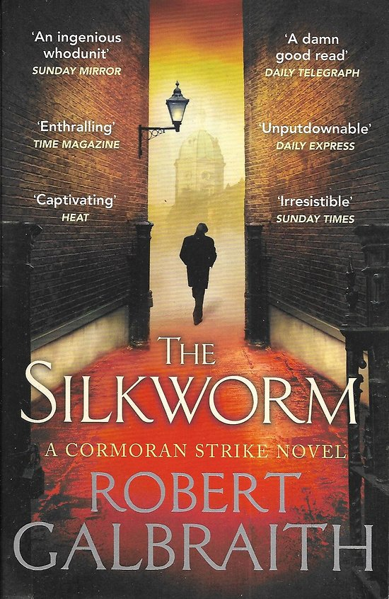 """Cormoran Strike, Tome 2: The silkworm"" Robert Galbraith/ Très bon état/ Livre broché moyen format"
