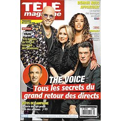 "TELE MAGAZINE n°3370 06/06/2020  ""The Voice"" le grand retour (Fabian, Obispo, bent & Lavoine)"