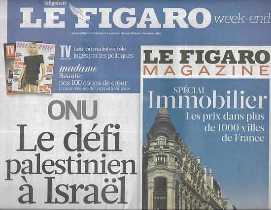 LE FIGARO n°20884 24/09/2011  ONU: le défi palestinien à Israël/ Banque publique/ Sénatoriales/All Blacks/ Fra Angelico