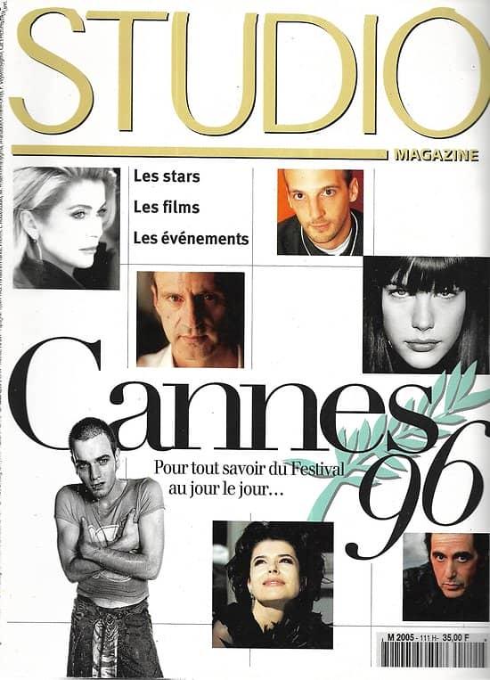 STUDIO n°111 mai 1996  Spécial Cannes/ Coppola/ Daniel Auteuil/ Fanny Ardant/ Cronenberg/ Kassovitz
