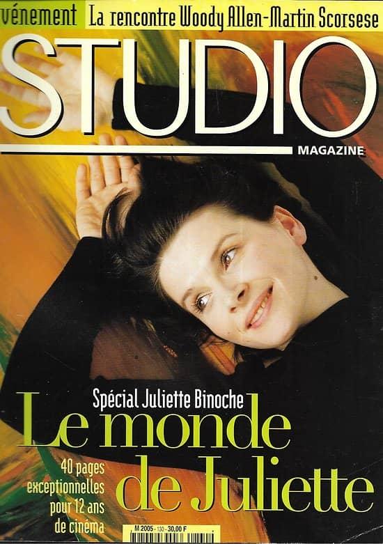 STUDIO n°130 janvier 1998  Spécial Juliette Binoche/ Titanic/ Scorsese & Allen/ Wim Wenders