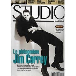 STUDIO n°139 novembre 1998  Jim Carrey/ Roberto Benigni/ Nicolas Cage/ Besson/ Cameron Diaz/ Juliette Binoche