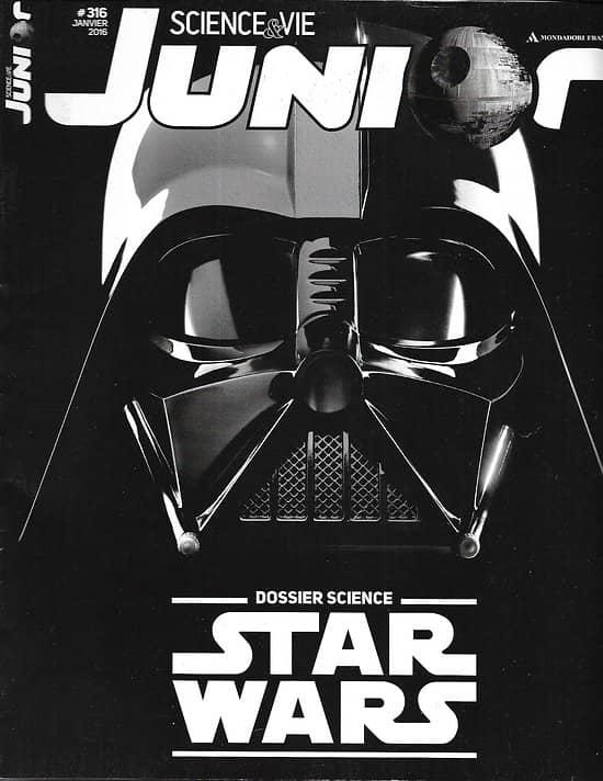 SCIENCE & VIE JUNIOR n°316 janvier 2016  Dossier science: Star Wars/ Orthographe/ Vélos insolites/ Extinction des dinosaures