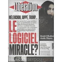 LIBERATION n°10858 20/04/2016  Logiciel Nationbuilder/ Ronit Elkabetz/ Crise à l'OM/ Musulmans belges
