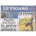 LE FIGARO n°20896 08/10/2011  SNCF: la grève abusive/ Max Gallo/ Carlos Ghosn/ Cinéma: couples glamour/ XV de France