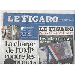 LE FIGARO n°20902 15/10/2011  L'UMP contre-attaque/ Problème énergétique/ Dette espagnole/ Coupe du monde de rugby