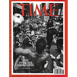 TIME VOL.195 n°23&24 22/06/2020  The overdue awakening / George Floyd Protests/ BLM Black Live Matters/ Fight against the virus/ The cost of isolation