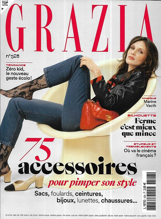 GRAZIA n°528 13/03/2020  Marine Vacth/ Spécial accessoires/ Défilés haute couture/ Jean-François Piège/ Zéro kids!
