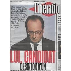 LIBERATION n°10870 04/05/2016  Hollande, lui, candidat/ Sûreté nucléaire: Areva/ Rescapés de la Shoah/ Histoire du Sous-vêtements