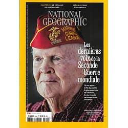 NATIONAL GEOGRAPHIC n°249 juin 2020  Les dernières voix de la Seconde Guerre mondiale/ Hiroshima/ Skateboard/ L'extinction des manchots?