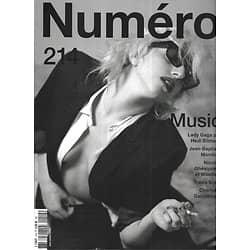 NUMERO n°214 juin 2020  Lady Gaga/ Hedi Slimane/ Jean-Baptiste Mondino/ Rock idols/ H.E.R./ Charlotte Gainsbourg/ Nicolas Ghequière & Woodkid