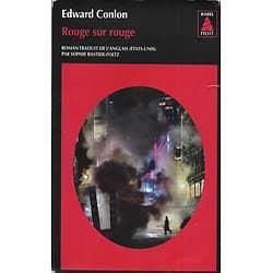 """""""Rouge sur Rouge"""" Edward Conlon/ Bon état/ 2016/ Livre poche"""