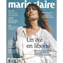 MARIE CLAIRE n°815 juillet 2020  Un été en liberté/ Caroline de Maigret/ Emmanuelle Béart/ Delphine Seyrig