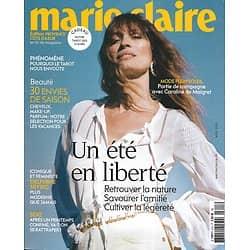 MARIE CLAIRE n°815 juillet 2020  Un été en liberté/ Caroline de Maigret/ Tarot/ Emmanuelle Béart/ Delphine Seyrig