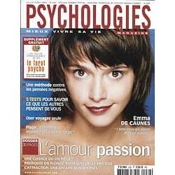 PSYCHOLOGIES n°232 juillet 2004  Emma De Caunes/ Tarot/ L'amour-passion/ Voyager seule