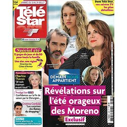 "TELE STAR n°2285 18/07/2020  ""Demain nous appartient""/ Charlize Theron/ Cristina Cordula/ PPDA/ Mélanie Laurent"