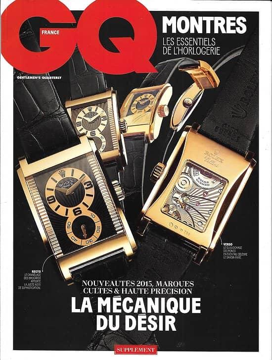 GQ  Spécial Horlogerie 2015: la mécanique du désir/ Célébrités/ Patek Philippe/ Piaget