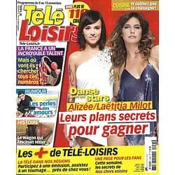 """TELE LOISIRS n°1445 09/11/2013  Alizeé & Laëtitia Milot """"DALS""""/ Harrison Ford/ """"La France a un incroyable talent""""/ les """"Z'amours""""/ Dutronc & Hardy"""