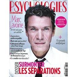 PSYCHOLOGIES n°391 novembre 2018  Marc Lavoine/ Surmonter les séparations/ David Séchan & Renaud/ Burn-out/ Gentillesse