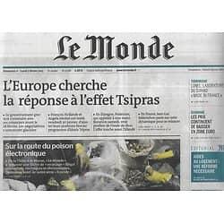 LE MONDE n°21786 01/02/2015  L'Europe cherche la réponse face à l'effet Tsipras/ Le poison électronique/ Chinawood/ Podemos/ TF1