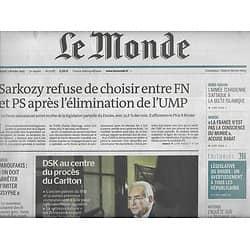 LE MONDE n°21787  Dsk & procès Carlton/ Ministre grec Varoufakis/ Conseillers nazis/ Cybercriminalité