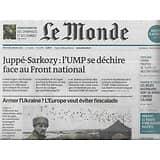 LE MONDE n°21788 04/02/2015  Armer l'Ukraine?/ UMP se déchire/ Front républicain/ Primates/ Barrière de corail