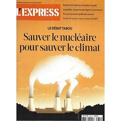L'EXPRESS n°3602 16/07/2020  Sauver le nucléaire pour sauver le climat/ Guerre des âges/ Ratés de la crise sanitaire/ A quand le vaccin?