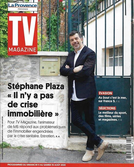 "TV MAGAZINE 09/08/2020 n°1749  Stéphane Plaza/ Kev Adams/ ""Le Silence de l'Eau""/ Vietnam"