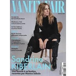 VANITY FAIR n°80 juin-juillet 2020  Sandrine Kiberlain/ Christophe/ Checknews/ Paul B.Preciado/ Yuval Noah Harari