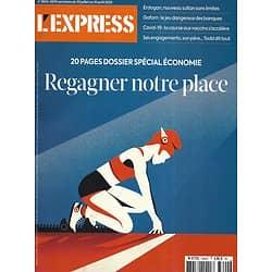 L'EXPRESS n°3604 30/07/2020  Spécial Economie: regagner notre place/ L'ultraviolence/ Course au vaccin/ Général Grant/ Emmanuel Todd/ Stockage des données bancaires