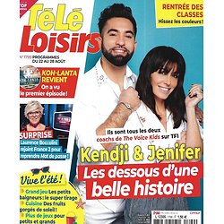 "TELE LOISIRS n°1799 22/08/2020  Kendji Girac & Jenifer/ ""Koh-Lanta""/ Meryl Streep/ ""Indiana Jones""/ ""Big Little Lies""/ Cyril Lignac"
