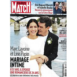 PARIS MATCH n°3718 06/08/2020  Marc Lavoine & Line Papin/ Dupond-Moretti & I.Boulay/ Affaire Epstein/ Cinecitta/ Covid-19/ Sauvons le koala