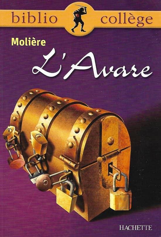 """""""L'Avare"""" Molière/ BiblioCollège/ Hachette/ Bon état/ Livre poche"""