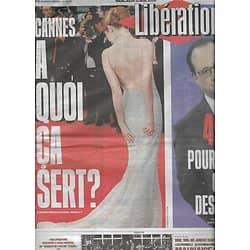 LIBERATION n°10876 11/05/2016  Cannes: à quoi ça sert?/ 49.3 la fracture/ LukLeaks/ Frédéric Pardo/ Passeurs de migrants
