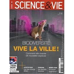 SCIENCE&VIE n°1216 janvier 2019  Biodiversité: Vive la ville!/ Dépollution plastique/ Bébés OGM/ Bienfaits de la paresse